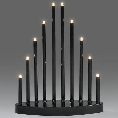 Konstsmide 2401-710TR Elljusstake svart, 10 ljus, LED