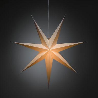 Konstsmide 2918-200 Julstjärna papper, vit, 78 cm