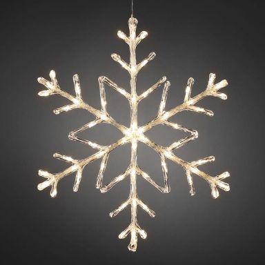 Konstsmide 4460-103 Dekorationsbeslysning snöflinga, 60 cm
