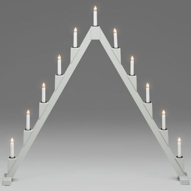 Konstsmide 3592-370 Elljusstake grå, 11 ljus
