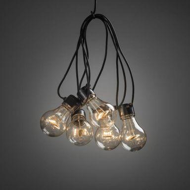 Konstsmide 2397-800 Lampeslynge tillegg, 9,15 m, 10 lyspunkter
