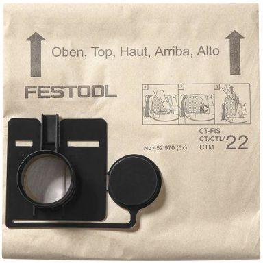 Festool FIS-CT 22 Suodatinpussi 5 kpl:n pakkaus