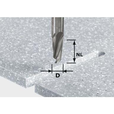 Festool HW Spi D12/42 RD ss S12 Spiraaliurajyrsinterä kara 12 mm