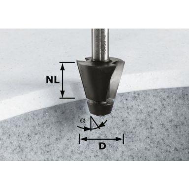 Festool HW D33,54/15° ss S12 Viisteytysjyrsin kara 12 mm