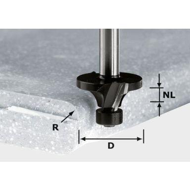 Festool HW R3/D22 ss S12 Pyöristysjyrsin Varsi 12mm