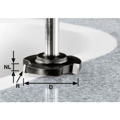 Festool HW D 52/R1ss S12 Planfräs 12mm spindel