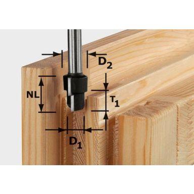 Festool HW D20,3/12,3/6 S12 Porrasjyrsinterä kara 12 mm