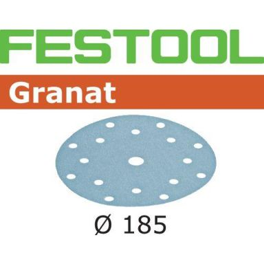 Festool STF GR Hiomapaperi 185mm, 16-reikäinen, 50 kpl
