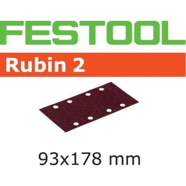 Festool STF RU2 Slippapper 93X178mm, 8-hålat, 50-pack
