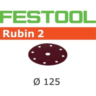 Festool STF RU2 Slippapper 125mm, 8-hålat, 10-pack