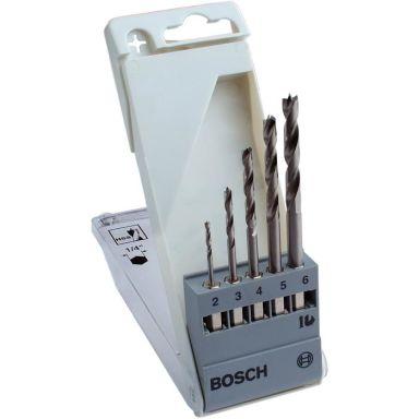 Bosch 2608595525 Poranteräsarja puulle, kuusiokannalla