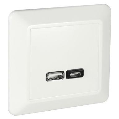 Elko RS Laddstation infällt, USB A+C