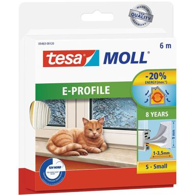 Tesa E-list 05463-00120-00 Tetningstape EPDM, 6 m, 9 mm x 4 mm