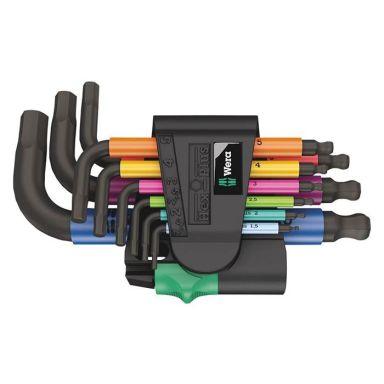 Wera 950/9 Hex-Plus Multicolour 2 Vinkelskruvmejselsats 9 delar
