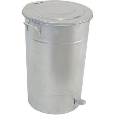 Hykab 11821 Avfallsbeholder med tramp, galvanisert, 70 l