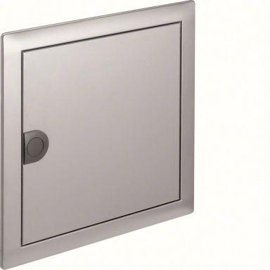 Hager VZ261N Dør med ramme, børstet stål