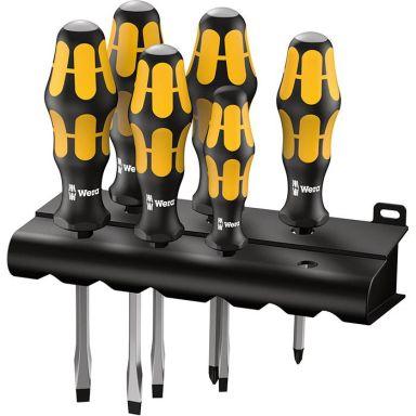 Wera Kraftform 018287 Skruvmejselsats 6 delar + rack