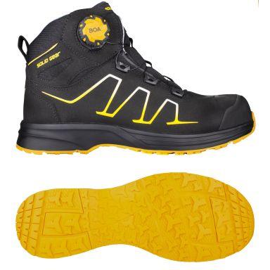 Solid Gear Reckon Vernestøvler S3, BOA, svart/gul