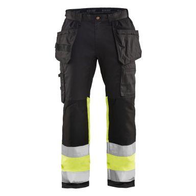 Blåkläder 155818119933C62 Varselbyxa med stretch, svart/varselgul