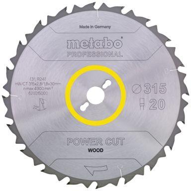 Metabo 628016000 Sagklinge 315 x 30 mm 24T