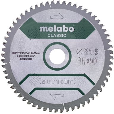 Metabo 628066000 Sågklinga 216x30 mm,60T