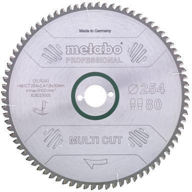 Metabo 628093000 Sagklinge 254 x 30 mm 80T