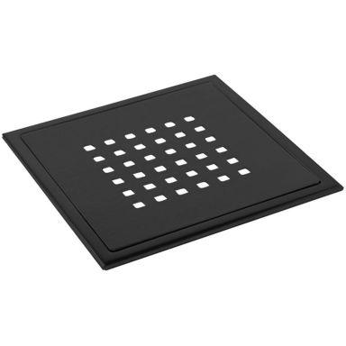 TEBO Details Stockholm Lux Black Gulvslukrist 200 x 200 mm
