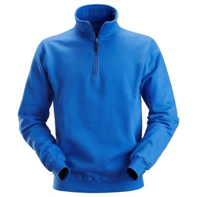 Snickers 2818 Sweatshirt klarblå, kort dragkedja