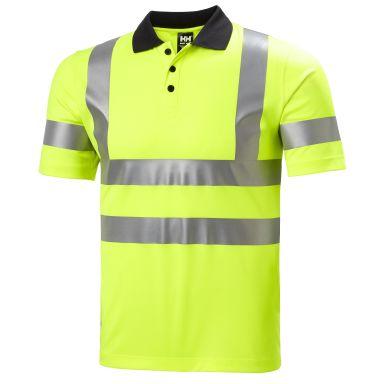 H/H Workwear Addvis Polo Pikétröja varsel, gul, stretch-reflex
