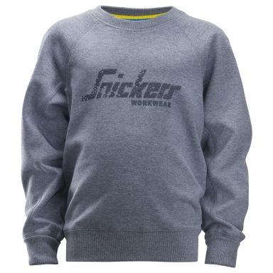 Snickers 7509 Sweatshirt junior, grå/blå