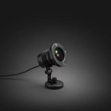 Konstsmide 4530-590 Laserlampa röd & grön, LED, timer, 12V/IP44
