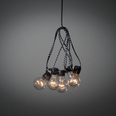 Konstsmide 2382-720 Lampeslynge 24 V, E27, 4,5 m, rav, 10 lyspunkter