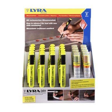 Lyra Dry Profi Display Snickarpenna 20-pack