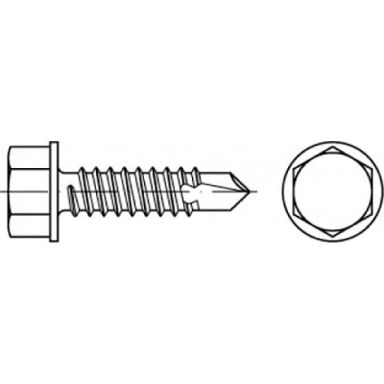 REYHER 075040140042025 Flensskrue 4,2 x 25 mm, 1000-pakning, HB ST
