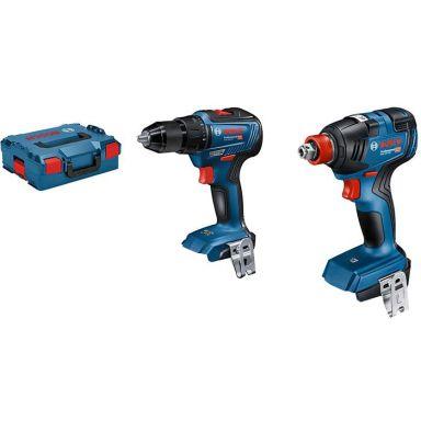 Bosch GDX 18V-200 + GSR 18V-55 Verktøypakke med L-BOXX, uten batteri og lader