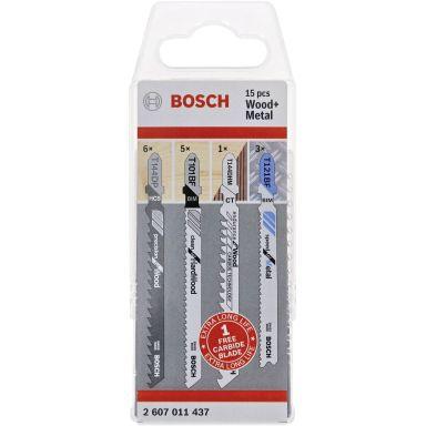Bosch 2607011437 Sticksågsbladset trä & metall, 15-pack