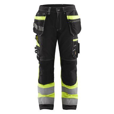 Blåkläder 179413709933D112 Varselbyxa med stretch, svart/varselgul