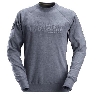 Snickers 2882 Sweatshirt grå-/blåmelerad