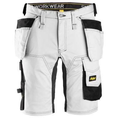 Snickers 6141 AllroundWork Shorts hvit, svart