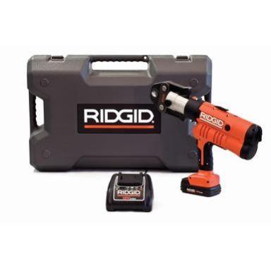 Ridgid RP 340-B Pressmaskin batteri, laddare, väska + V 15-22-28 mm