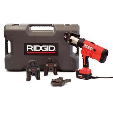 Ridgid RP 340-C Pressemaskin med V 15–22–28 mm pressbacker