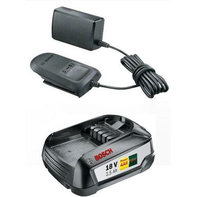 Bosch DIY AL 1810 CV + 2,5Ah Laddpaket 2,5Ah batteri och laddare