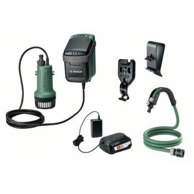 Bosch DIY GardenPump 18 Hagepumpe med 2,5 Ah-batteri og lader