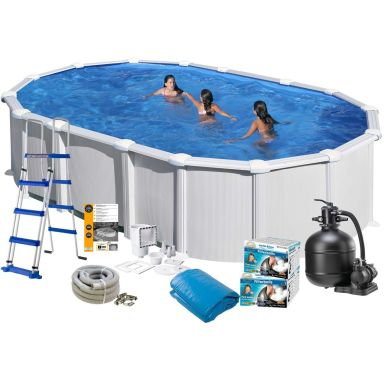 Swim & Fun 2724 Poolpaket 7,3 x 3,75 x 1,32 m, 28 217L