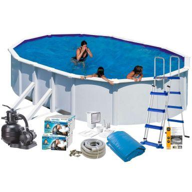 Swim & Fun 2729 Poolpaket 7,3 x 3,75 x 1,32 m, 28 217L