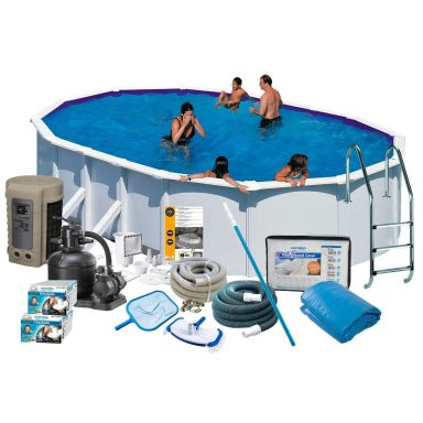 Swim & Fun 2748 Poolpaket 7,3 x 3,75 x 1,32 m, 28 217L