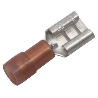 Abiko KA1507FLS-CP Kaapelikenkä lattaliitinhylsy, 10 kpl