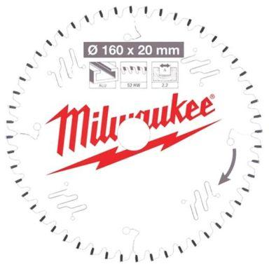 Milwaukee CSB P Alu Sågklinga 160x2,2x20 mm, 52T