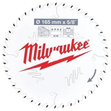 Milwaukee CSB P W Sahanterä 165x1,6x15,87 mm, 40T