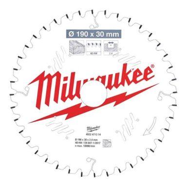 Milwaukee CSB MS W Sagklinge 190x2,4x30 mm, 40T